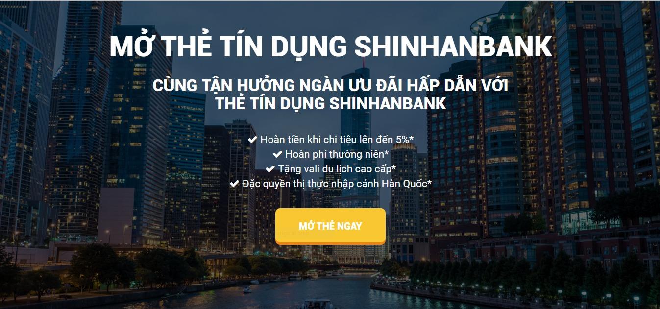 Mở thẻ tín dụng Shinhanbank tận hưởng hàng ngàn ƯU ĐÃI HẤP DẪN